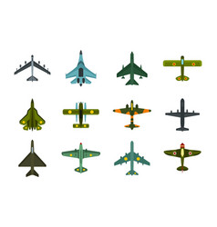 air plane icon set flat style vector image