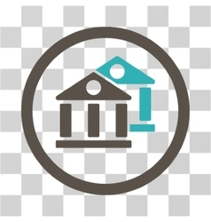 Banks Flat Rounded Icon vector image