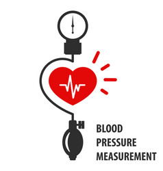 Blood pressure measurement icon - heart and sphygm vector