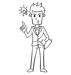 Businessman with idea character collection vector