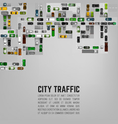 City traffic background vector