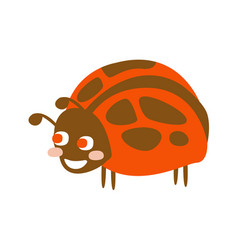 Cute cartoon ladybug colorful character vector
