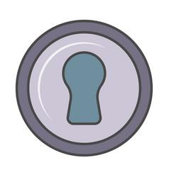 Door padlock isolated pictogram vector