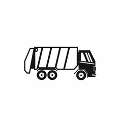 Garbage truck icon simple style vector