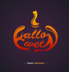 Happy Halloween Typography design vector image vector image