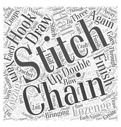 How to Zigzag Lozenge Stitch in Craft Word Cloud vector image vector image