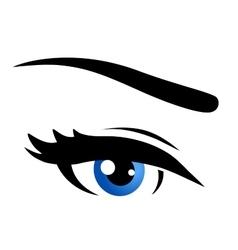 Isolated blue eye vector