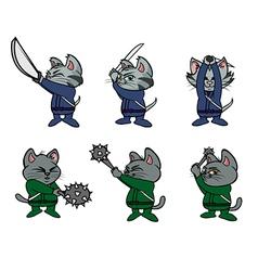 Kitten ninjas vector