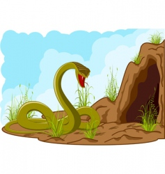 landscape with snake vector image vector image