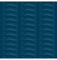 Marine seamless pattern with waves vector