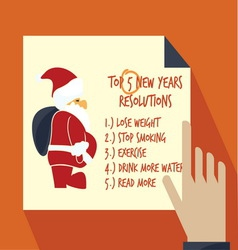 new years resolution list2 resize vector image vector image