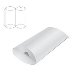 Pillow folding box a vector