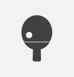 Ping pong table tennis icon vector