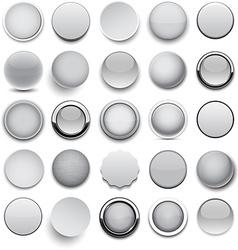 Round grey icons vector image