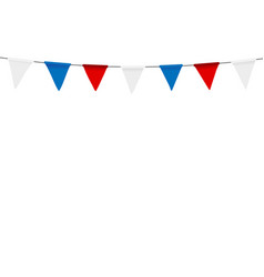 Russian flag festive bunting against party vector