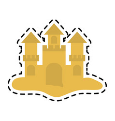 Sand castle icon image vector