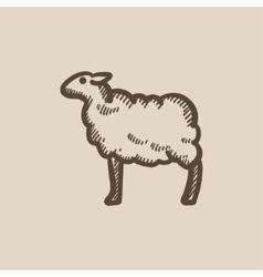 Sheep sketch icon vector image