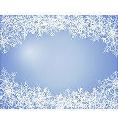 Simple winter background vector image vector image