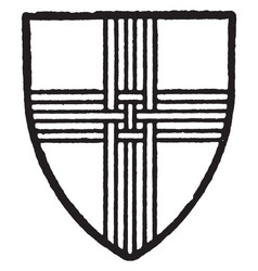 Skirlaw bore silver a cross of three upright vector