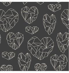 Stone heart seamless pattern vector