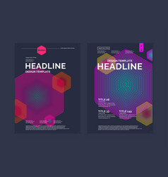 Template for a magazine about music modern poster vector