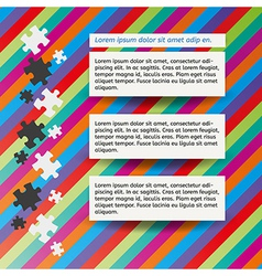 three notes and puzzle vector image