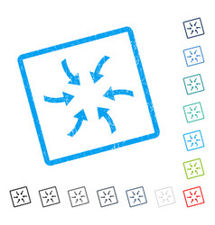 Twirl arrows icon rubber watermark vector