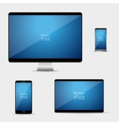 Pc screen tablet and smartphone icon vector