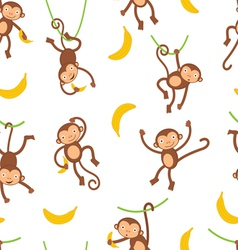 Monkey pattern vector
