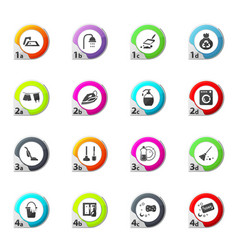 cleaning company icons set vector image