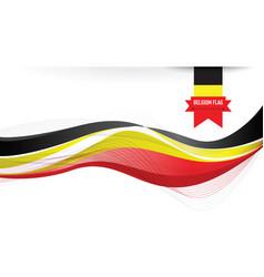 Belgium flag background vector