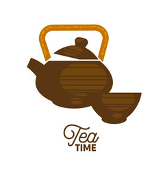 Teapot and a cup vector