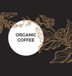 Template coffee moon vector
