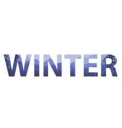 Winter words on the beautiful chrismas flat vector