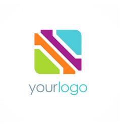 Square color business logo vector