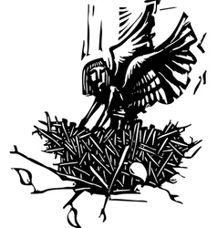 Angel Nest vector image