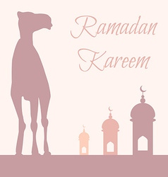 Ramadan greeting with camel vector
