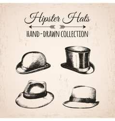 Hipster fashion vintage elements hand-drawn mega vector