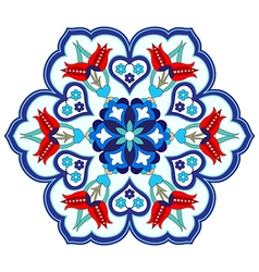 Antique ottoman turkish pattern design four vector