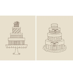 cake and giflts vector image