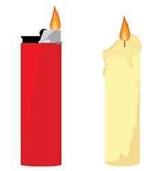 Candle and lighter vector