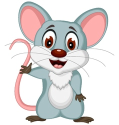 Happy mouse cartoon posing vector