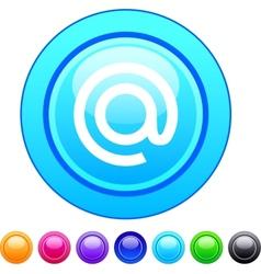 At circle button vector image vector image