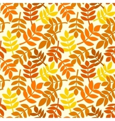 Autumn leaves plants seamless pattern vector image vector image