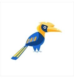 Blue Hornbill Bird vector image
