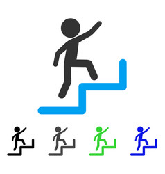 Child steps upstairs flat icon vector