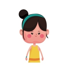 Cute girl cartoon icon vector