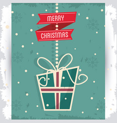 Gift merry christmas design vector