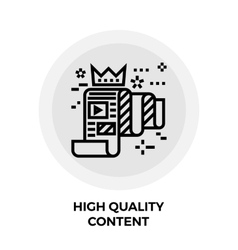 High quality content line icon vector