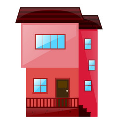 house painted in pink vector image vector image